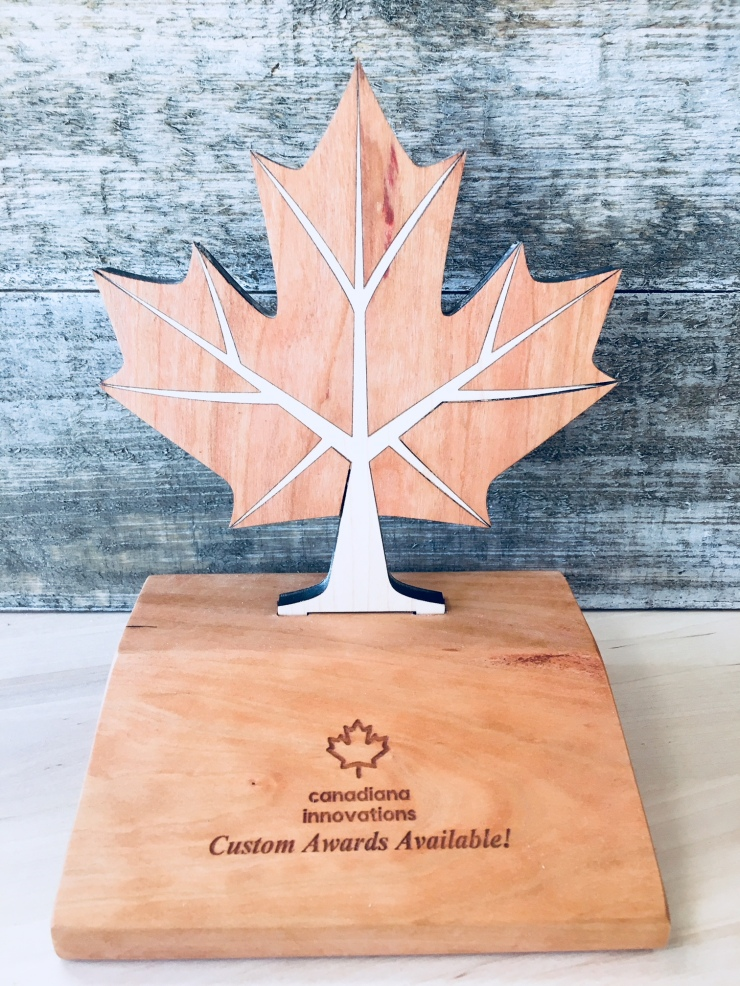 Canadian custom awards sample
