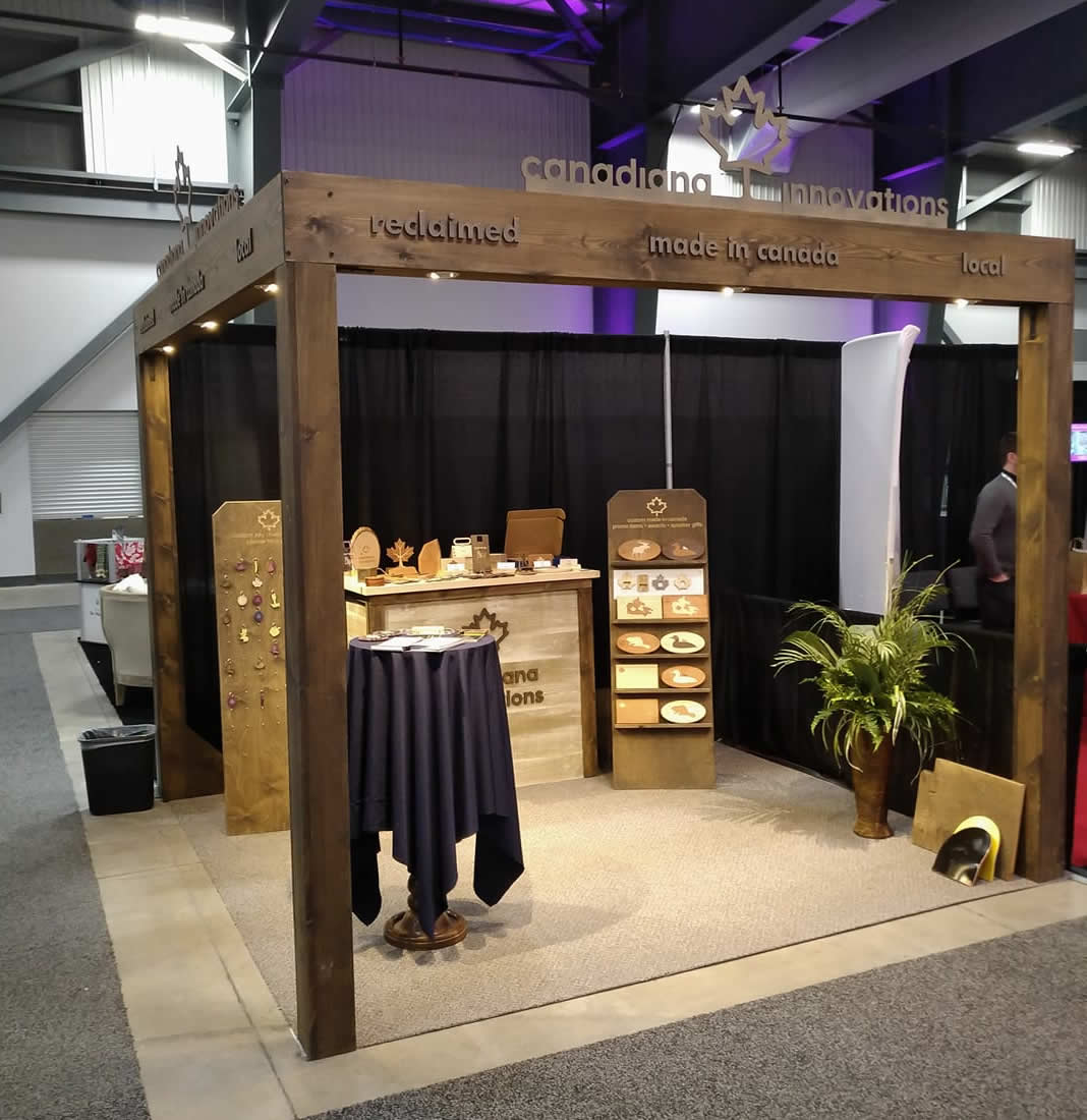 Trade show booth for Canadiana Innovations