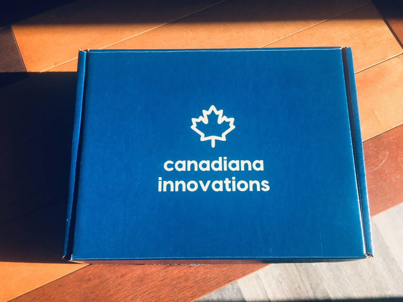 A sample box for Canadiana Innovations
